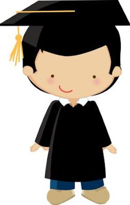niño de vestido de graduación para imprimir