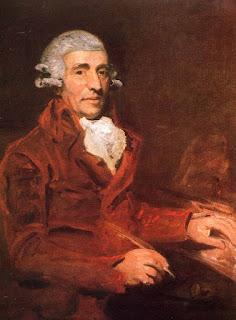 Imagen con un retrato al óleo de Franz Joseph Haydn en 1791