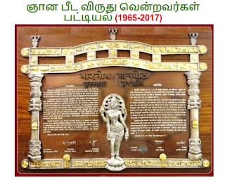 TNPSC Current Affairs November 2017: List of Jnanpith Award Winners (1965-2017) in Tamil