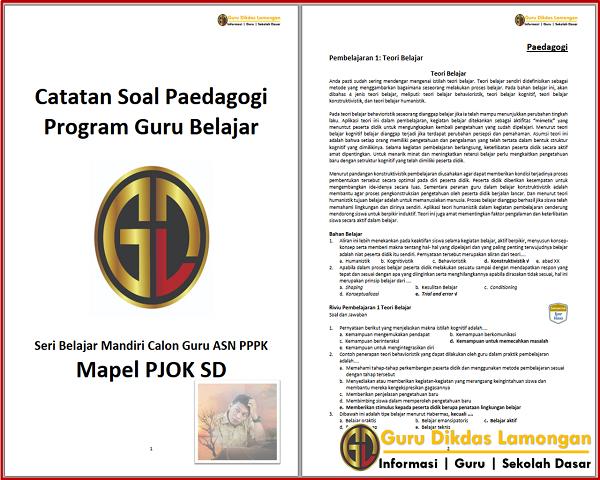Catatan Soal Paedagogi Seri Belajar Mandiri Calon Guru ASN PPPK Mapel PJOK SD