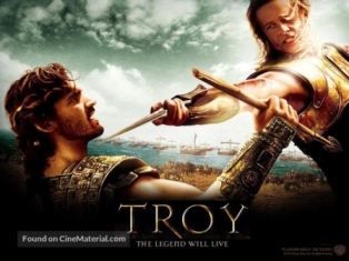 Showing Troy 2004 Movie Poster