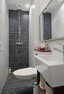 ديكورات حمامات صغيرة جدا مودرن