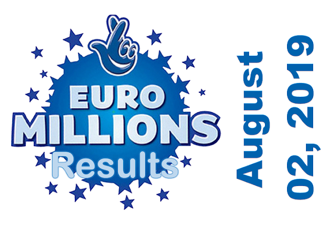 EuroMillions Results for Friday, August 02, 2019