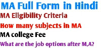 MA Full Form in Hindi