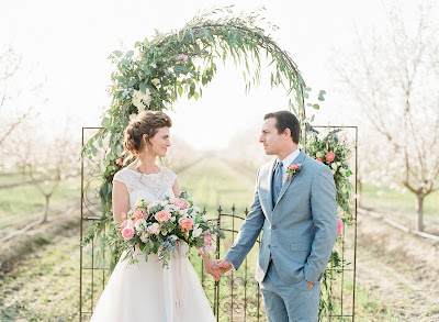 AS SEEN IN: Ruffled Blog: Spring Almond Orchard Wedding Inspiration