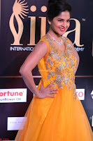 Keerthi in Orange Anarkali Dress at IIFA Utsavam Awards 2017  Day 2  01.JPG