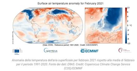 Κλιματολογία : Ο ψυχρότερος από την περίοδο 1991-2020 ήταν ο φετινός Φεβρουάριος για την Ρωσία και την Βόρεια Αμερική