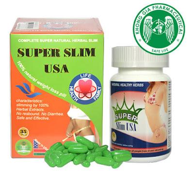 Hộp sản phẩm giảm cânSuper Slim USA Nhập khẩu chính hãng
