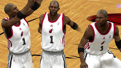 NBA 2K13 Chris Bosh Shaved Hairstyle Finals