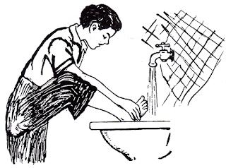 الموسوعة المدرسية - الوضوء - غسل الرجلين
