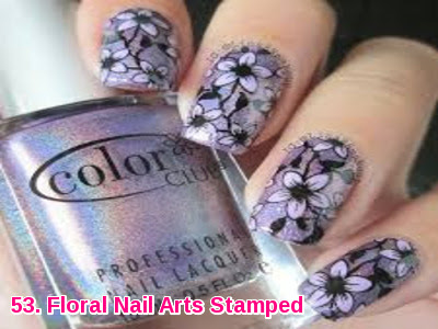 Floral Nail Arts Stamped