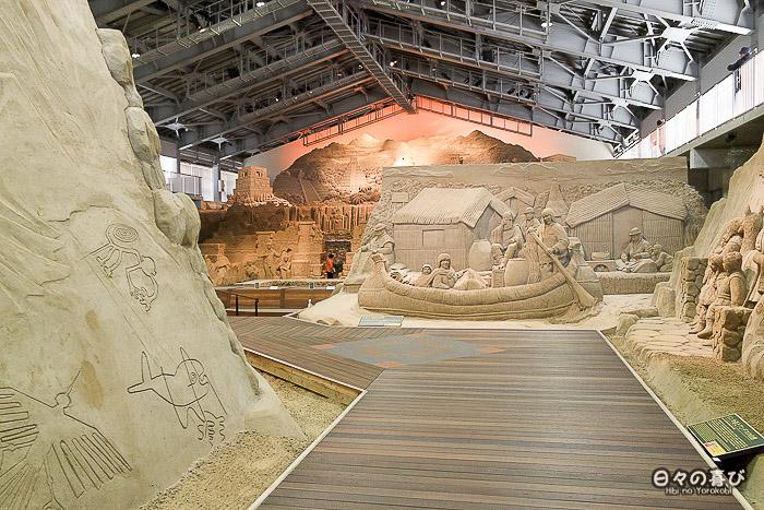 musée du sable entrée salle d'exposition