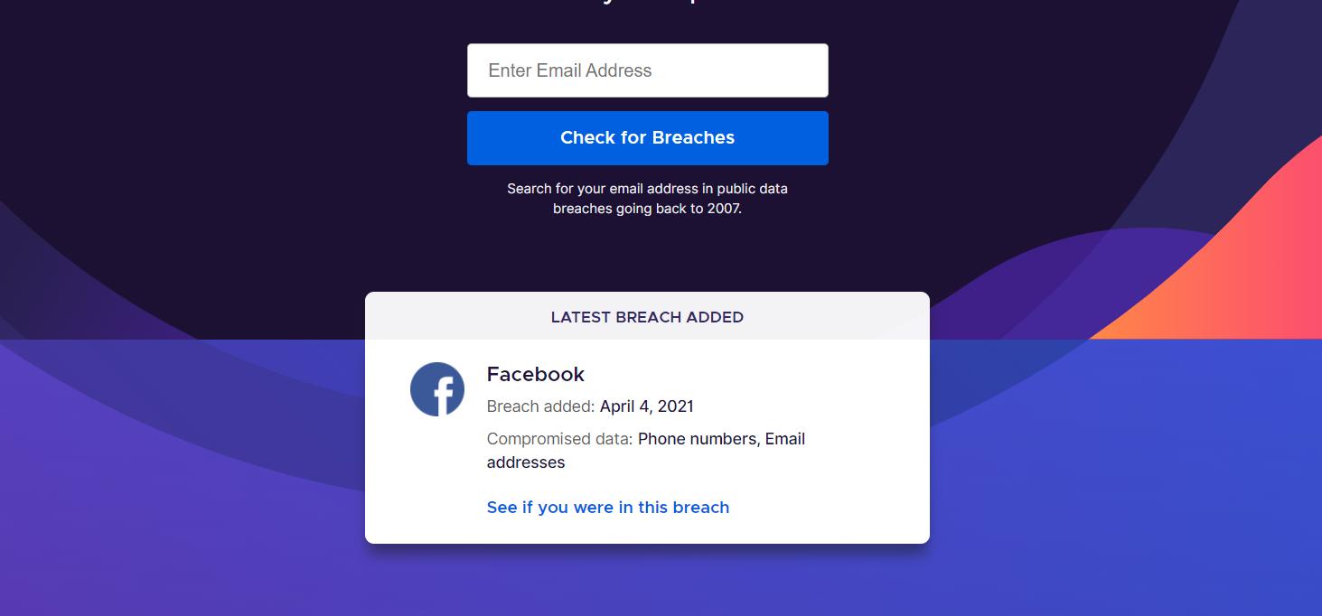 كيف أعرف ان تم تسريب حسابي ضمن تسريبات فيسبوك الجديدة