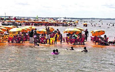 Resultado de imagem para praia de tucunaré marabá