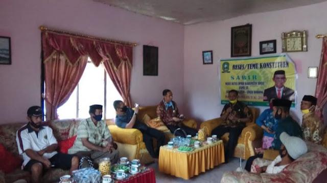 Wakil Ketua I DPRD Sinjai Tampung Aspirasi Warga Melalui Reses