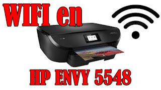 configurar WIFI en HP envy 5548