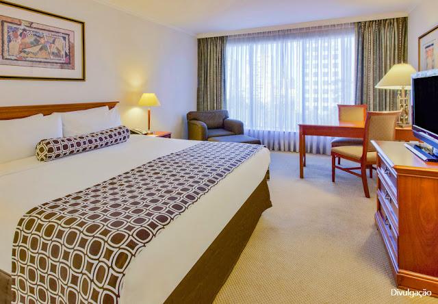 apartamento do Crowne Plaza Hotel, em Santiago do Chile