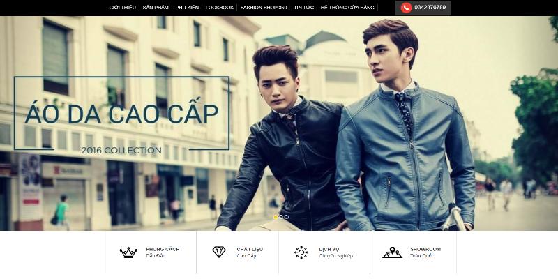 Mẫu website bán hàng thời trang nam