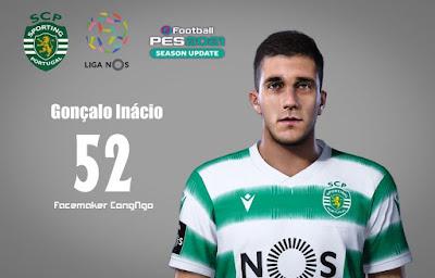 PES 2021 Faces Gonçalo Inácio by CongNgo
