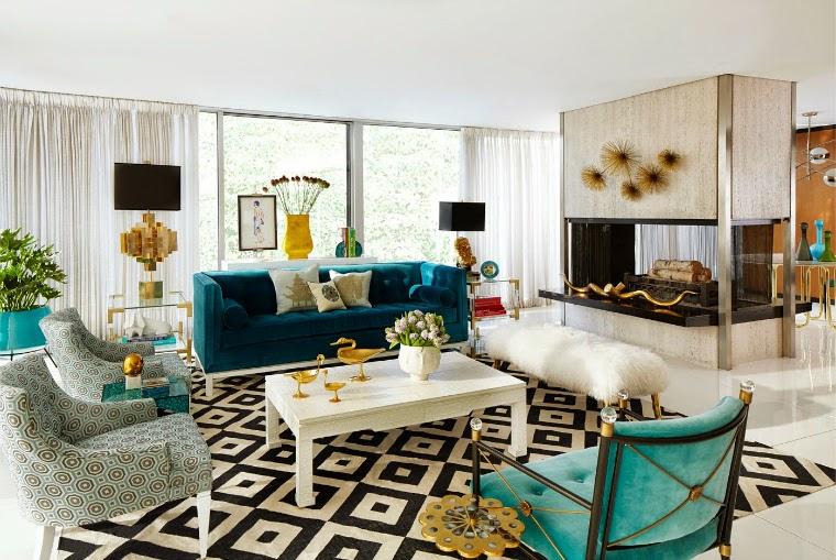 decoración sala con alfombra