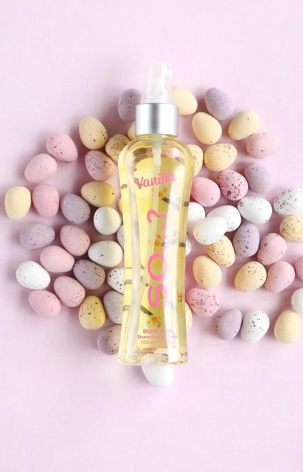 Beauty, Drugstore, Easter, Mini Eggs, Mini Eggs smell, body spray that smells like Mini Eggs, So Fragrances body spray, Easter
