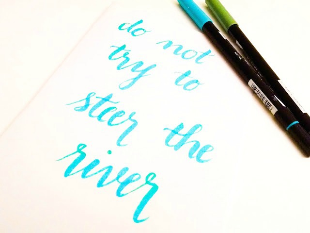Brush lettering a few favorite brush markers an artful mom