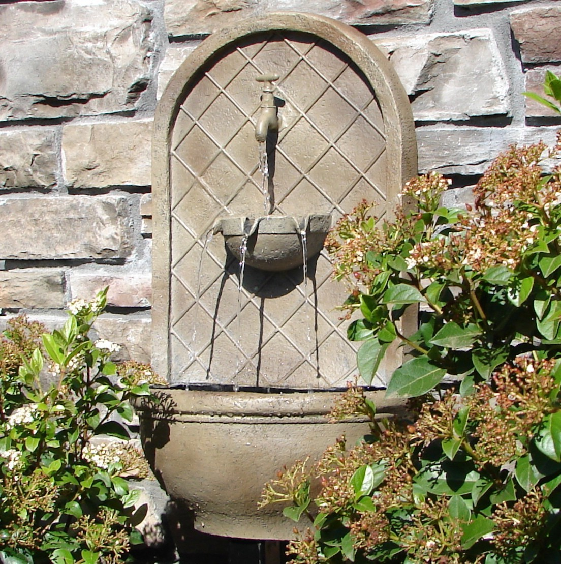 water fountain wall