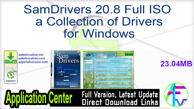 SamDrivers 20.8 Full ISO a Collection of Drivers for Windows