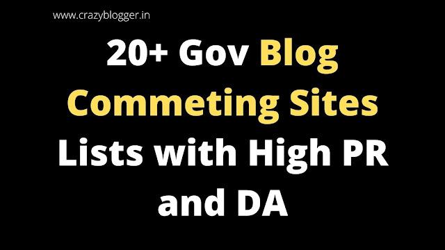 Top Free 20+ Gov Blog Commenting Sites List 2020 - High Pr Sites