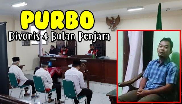 Purbo, Pak RT Yang Tolak Pemakaman Perawat Positif Corona di Semarang Divonis 4 Bulan Penjara