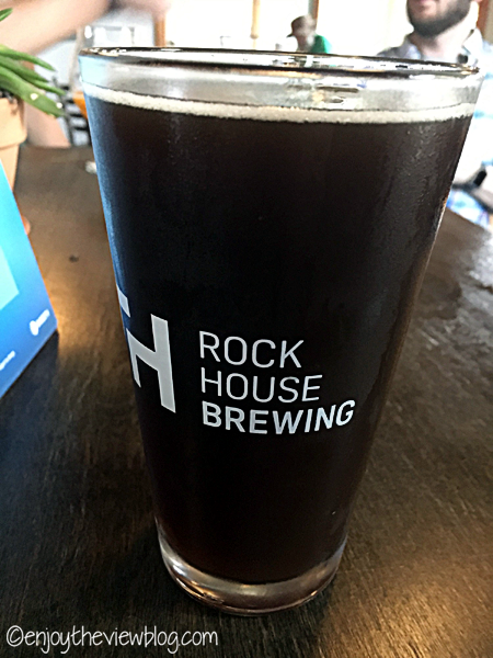 Dark and Bloody Ground (Kentucky Common Ale with blood oranges) from Rock House Brewing in Lexington