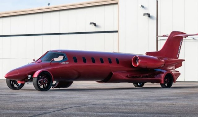 The only Learjet limousine plane in the world is going to auction