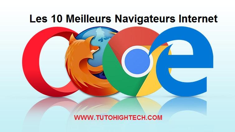 Top liste, Meilleur Navigateur Internet, Navigateur Web le plus Rapide