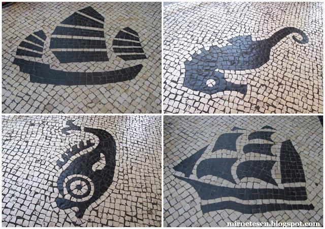 Макао - португальские мозаики на тротуарах