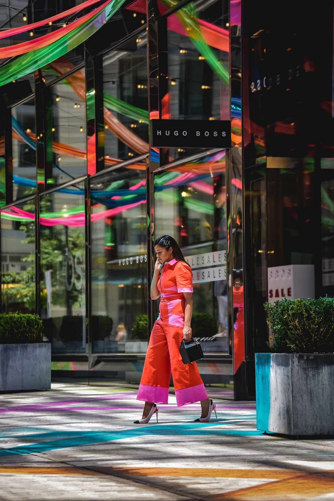 city center DC installation, Dc blogger, East order otter jumpsuit, summer fashion, jumpsuit, street style, colorblock, heels, colorblock shoes, summer fashion, ootd, myriad musings, saumya Shiohare 6