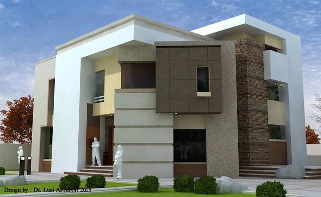 Desain rumah mewah minimalis modern 2 lantai