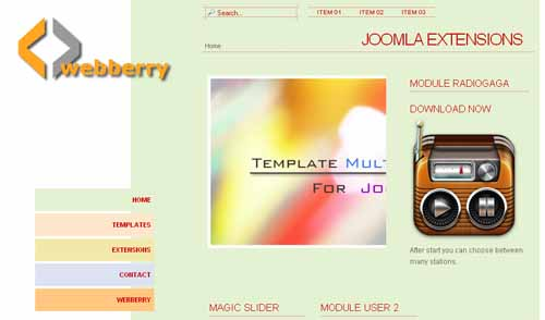Free Multi Pastell Joomla 2.5 Template