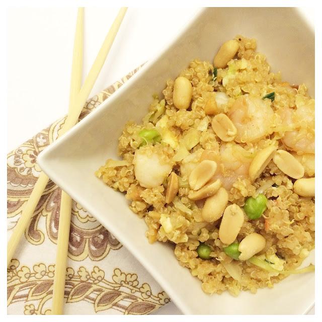Thai Peanut Quinoa Bowl