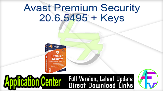Avast Premium Security 20.6.5495 + Keys