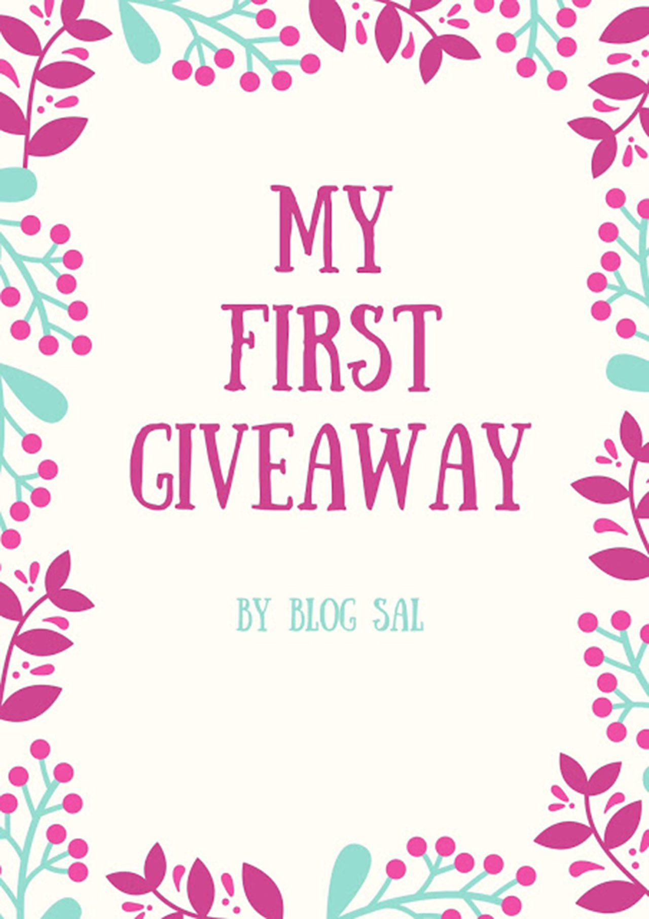 My First Giveaway By Blog Sal