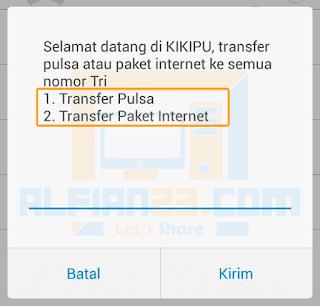 Pilihan Transfer Pulsa Tri