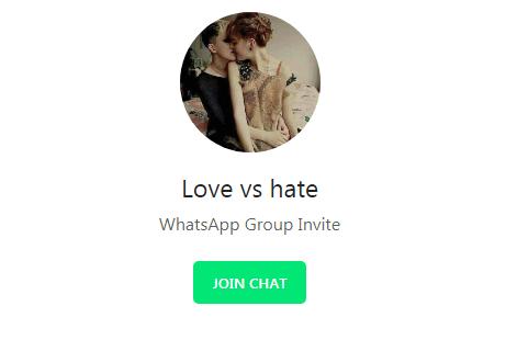 Love Vs Hate Story | WhatsApp Group Links (April 2018)