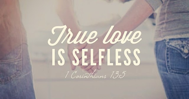True love is selfless