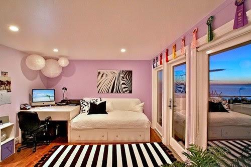 Dormitorio juvenil rosa negro