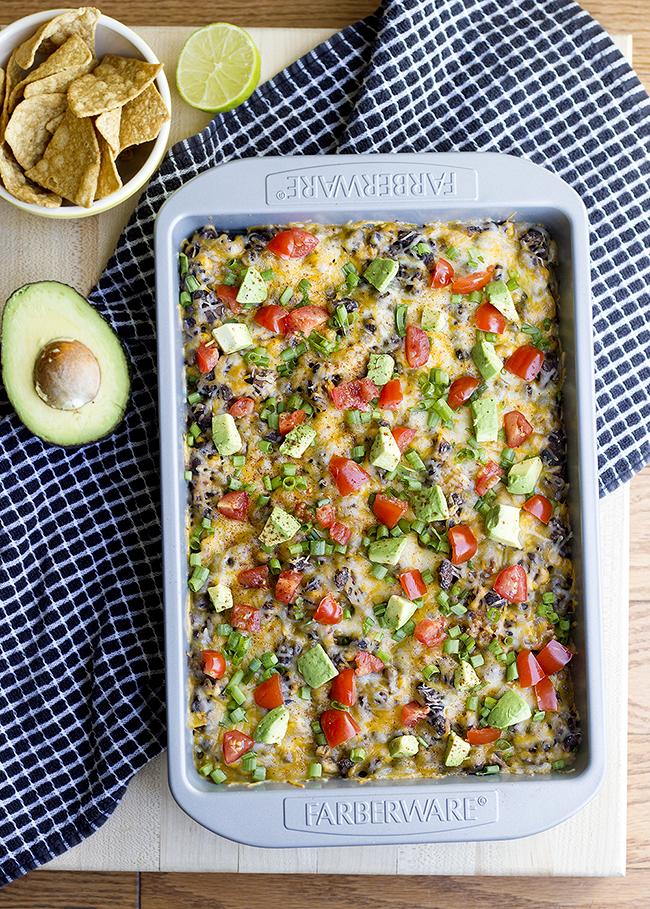 Spicy Veggie Burrito Bowl Casserole