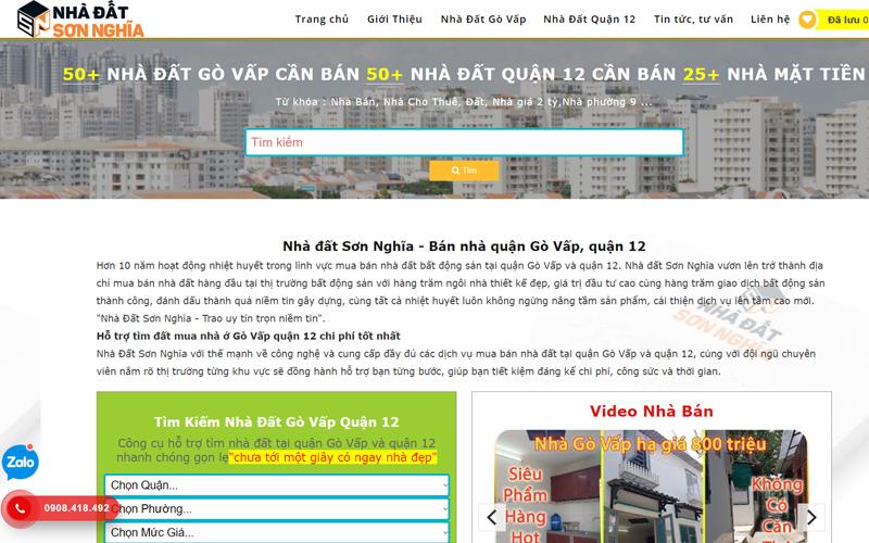 Website bất động sản nhà đất sơn nghĩa