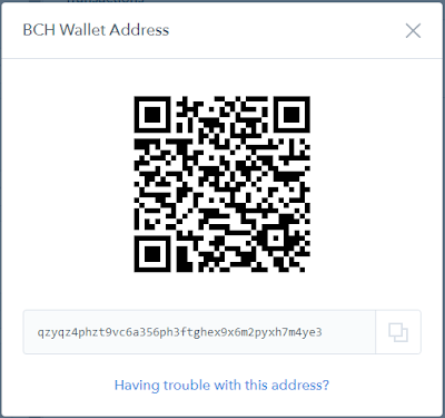 BCH wallet address to earn BCH from Bitcoin cash faucets