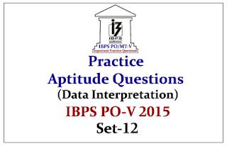 IBPS PO Race 2015- Practice Aptitude Questions (Data Interpretation) With Solutions
