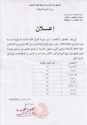 35 منصب أساتذة في مدرسة أشبال الأمة