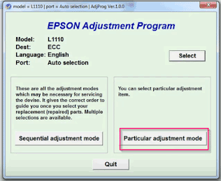 Cara Reset Epson L1110 Blinking Service Required